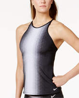 Nike Ombre High-Neck Cross-Back Tankini Top Women's Swimsuit