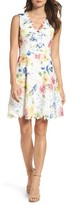 Betsey Johnson Women's Lace Fit & Flare Dress