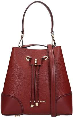 Michael Kors Hand Bag In Brown Leather