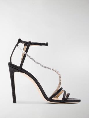 Jimmy Choo Thaia 100mm crystal-embellished sandals