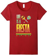 Women's Life is a Fiesta Graphic Mexican Party T-shirt Large