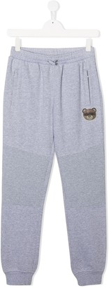 MOSCHINO BAMBINO TEEN teddy bear track pants