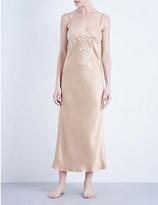 Marjolaine Baccarat long silk-satin nightdress