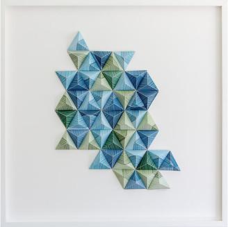 Dawn Wolfe Design Dawn Wolfe - Striped Origami Collage I