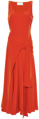 Antonio Berardi Wrap-effect Crepe De Chine Midi Dress