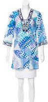 Emilio Pucci Abstract Print Sheer Tunic