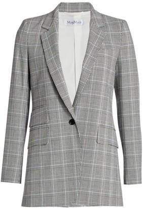Max Mara Piuma Glen Plaid Blazer Jacket