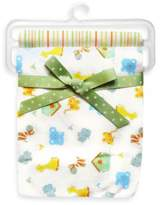 SpaSilk Noah's Ark 2-Pack Swaddle Blanket in Yellow