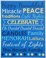 """Personal Creations Personalized All About Hanukkah Canvas - 11"""" x 14"""""""