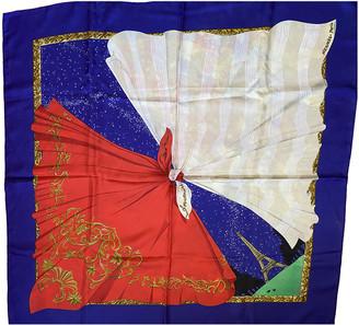 Hermã ̈S HermAs Blue Silk Scarves