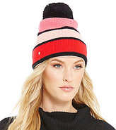 Kate Spade Color Block Beanie with Pom