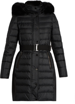 Burberry Abbeydale fur-trimmed quilted down coat