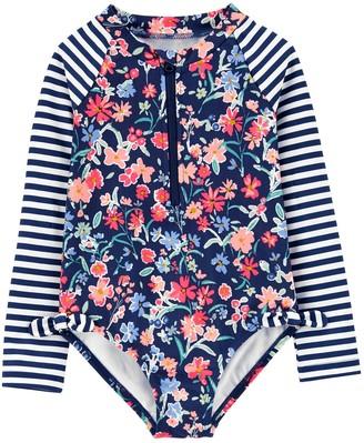 Osh Kosh Baby Girl Floral Rashguard Swimsuit