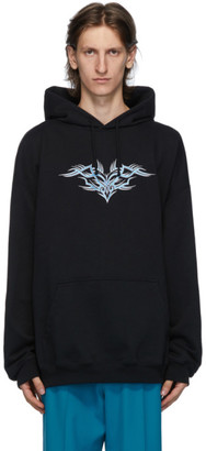 Vetements Black Embroidered Hoodie