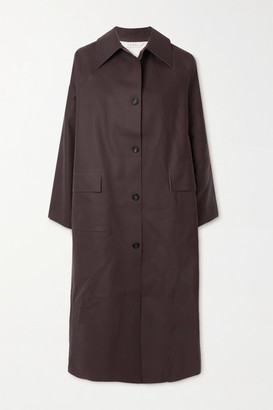 Kassl Editions Rubber Trench Coat - Chocolate