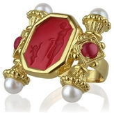 Tagliamonte Classics Collection - Pearls & Rubies 18K Gold Ring