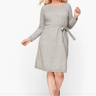 Talbots Tweed Side Tie Sweater Dress