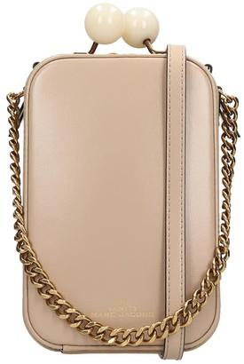 Marc Jacobs The Vanity Shoulder Bag In Beige Leather