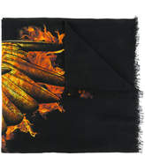 Marcelo Burlon County of Milan Ellas fire print scarf