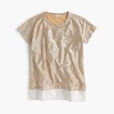J.Crew Girls' rose-gold shimmer T-shirt