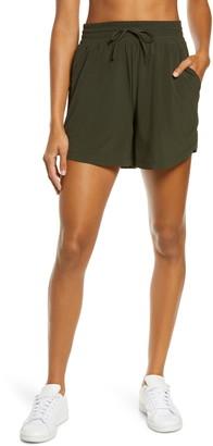 Zella High Waist Wide Leg Shorts