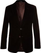 Giorgio Armani - Brown Soho Slim-fit Velvet Blazer