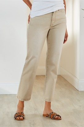Women The Ultimate Straight Cropped Jeans