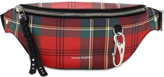 Alexander McQueen Tartan Print Leather Harness Belt Bag