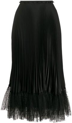 RED Valentino Tulle Hem Pleated Skirt