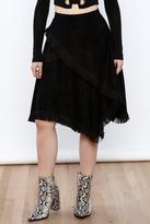 Moon River Asymmetrical Fringe Skirt