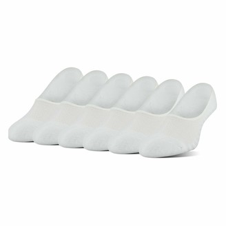Peds Women's Spun Poly Cushion No Show Liner Socks with Gel Tab 6-Pack
