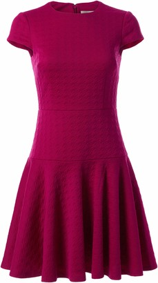 Eliza J Women's Textured Knit FIT and Flare Dress