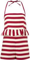 RED Valentino striped playsuit - women - Silk/Cotton - 38
