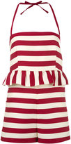 RED Valentino striped playsuit - women - Silk/Cotton - 40