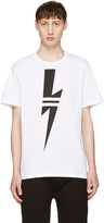 Neil Barrett White Thunderbolt T-Shirt