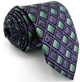 Shlax & Wing Shlax&Wing Checkered Ties Mens Necktie Purple Extra Long Silk ...