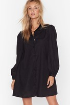 Nasty Gal Womens Lace Go Out Tonight Shirt Dress - black - 4, Black