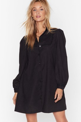 Nasty Gal Womens Lace Go Out Tonight Shirt Dress - black - 4