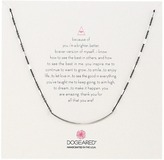 Dogeared Balance Tube on Sparkle Chain Necklace