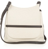 The Row Canvas and leather cross-body bag