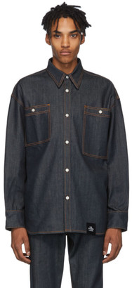 S.R. STUDIO. LA. CA. Indigo Denim Oversized Button-Down Shirt