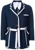 Thom Browne contrast trim fitted jacket