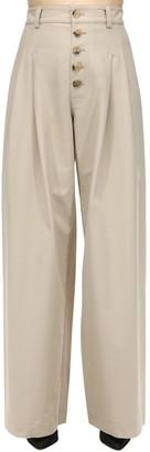 J.W.Anderson Baggy Cotton Canvas Trousers W/ Pleats