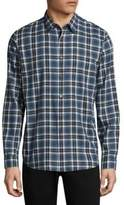 Theory Plaid Cotton Button-Down Shirt