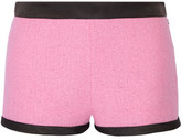 Moschino Satin Twill-Trimmed Cotton-Blend Bouclé-Tweed Shorts