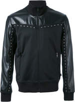 Just Cavalli zip up studded jacket
