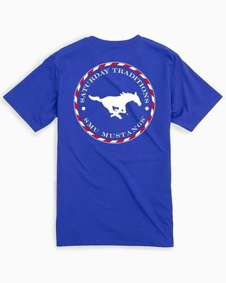 Southern Tide SMU Mustangs Circle Short Sleeve T-Shirt