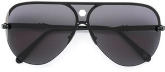 Philipp Plein Half-Frame Aviator Sunglasses