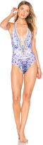 Camilla U Ring Halter One Piece in Purple. - size S (also in XS)