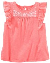 Carter's Toddler Girl Embroidered Flounce Top